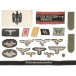 * Third Reich. WWII German armbands and cloth badges