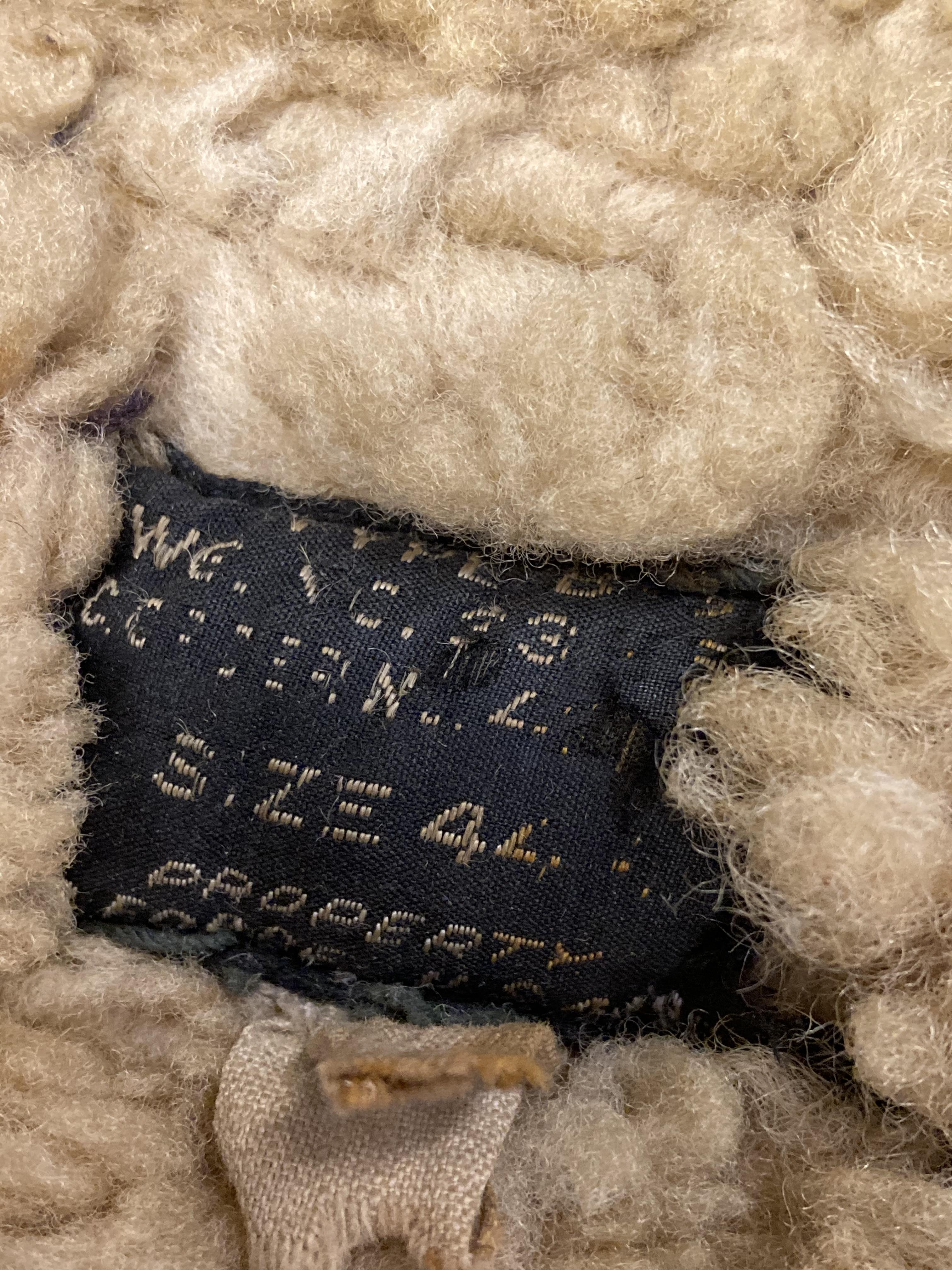 * Flying Jacket. WWII USAAF brown leather flying jacket - Image 2 of 3