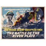 * Battle of The River Plate – A rare original film poster for Rank Organisation distribution c1953