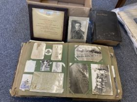 * Worcestershire Regiment - 1st Battalion. Scrap and Postcard Album