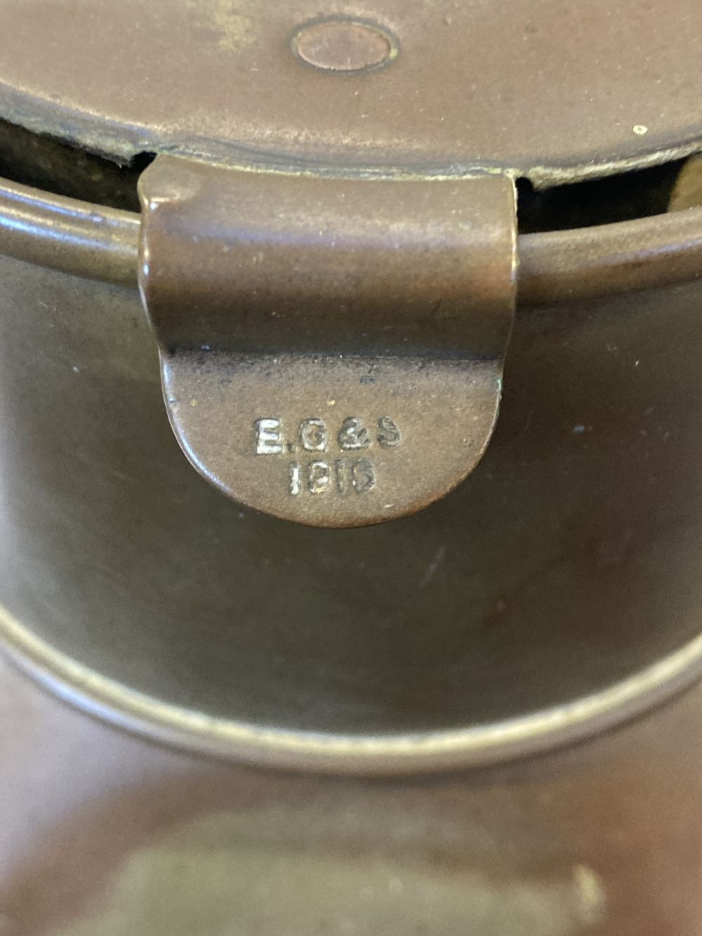 * WWI Brass Trench / Wardroom Lamp - Image 9 of 10