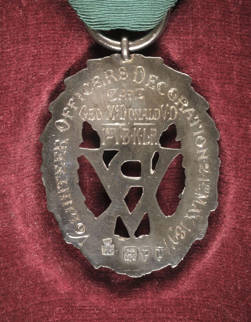 * Volunteer Officers' Decoration, V.R. - Image 2 of 2