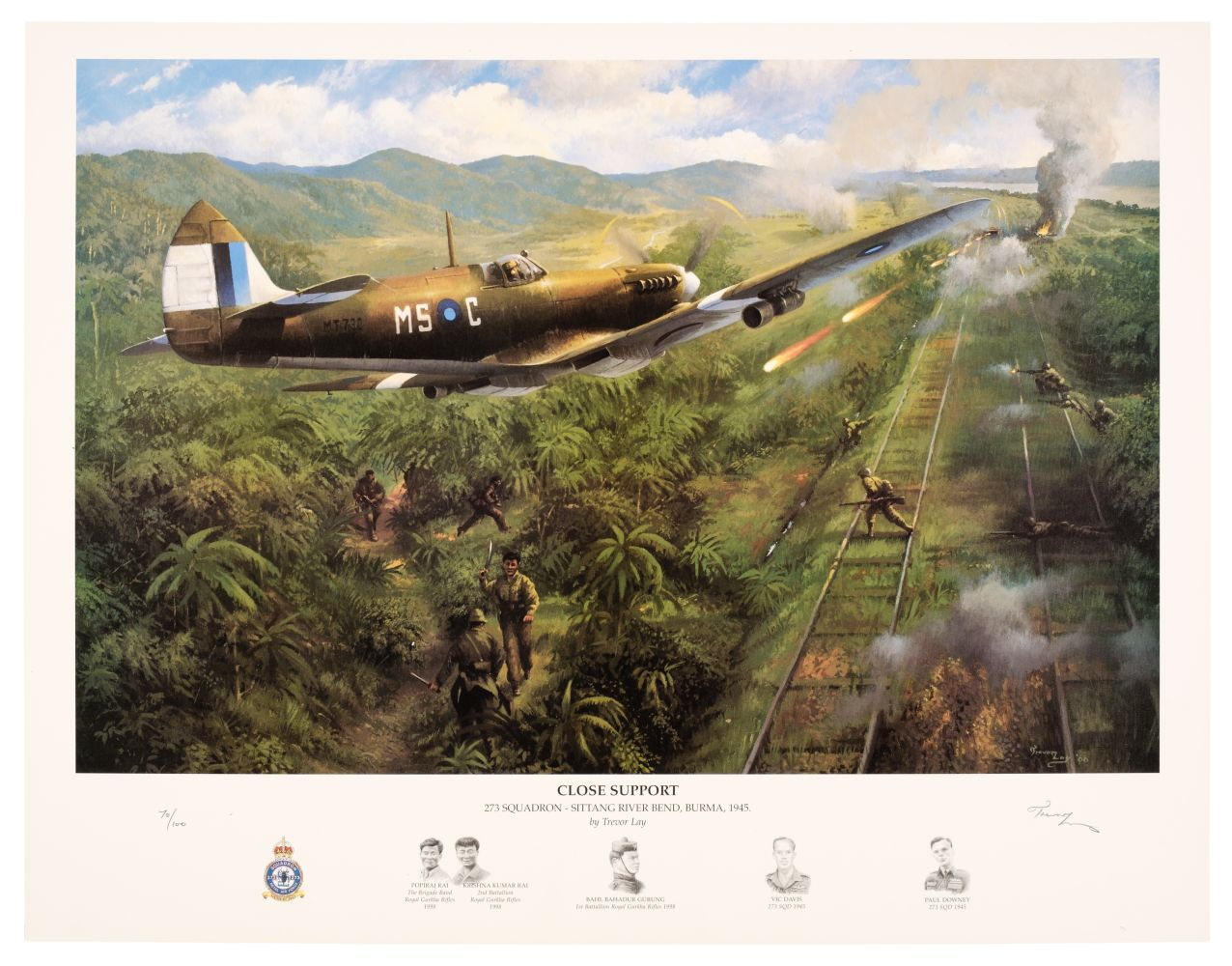 * Aviation Prints, Lay (Trevor) Close Support and other prints