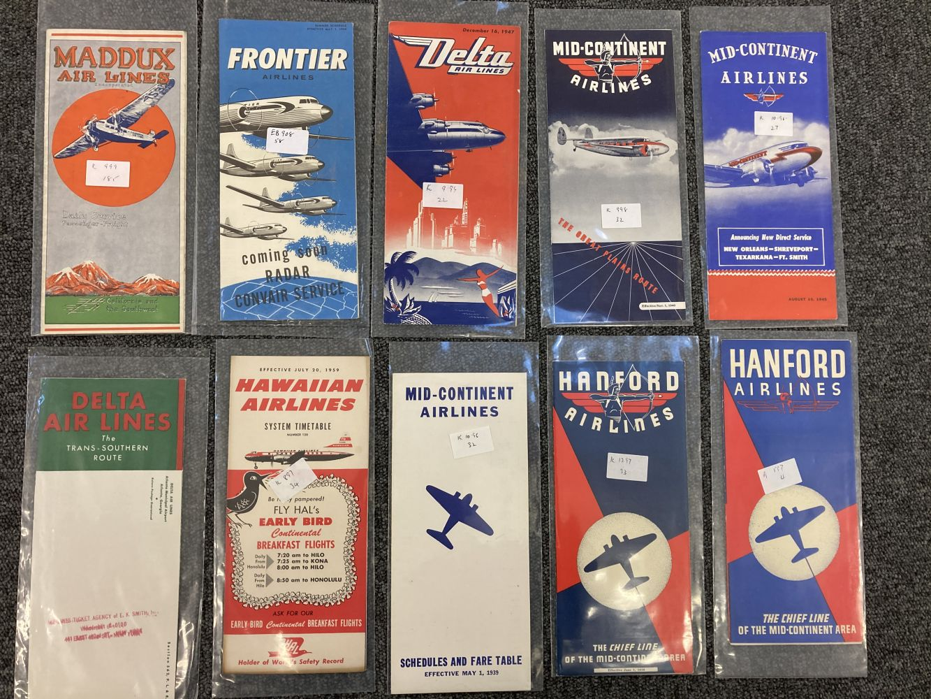 * Civil Aviation. American Timetables 1940-1960 - Image 2 of 11