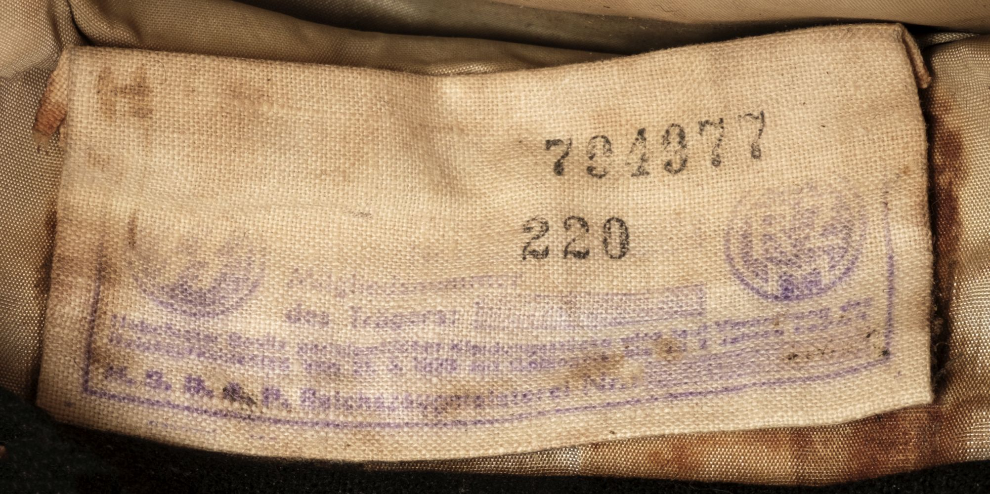 * Third Reich. WWII SS Officer's visor - Image 2 of 10