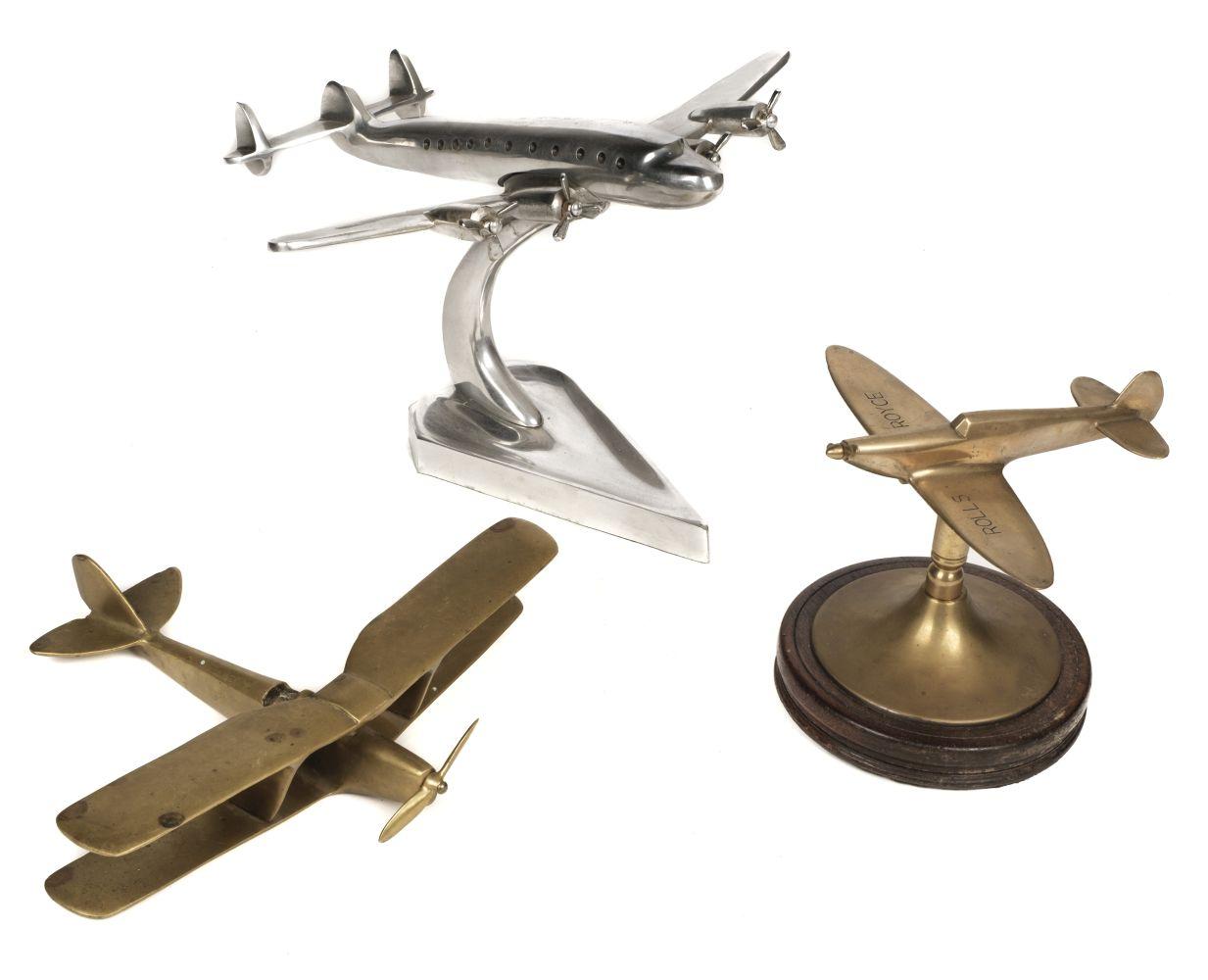 * Desktop Models. Spitfire and commercial aircraft