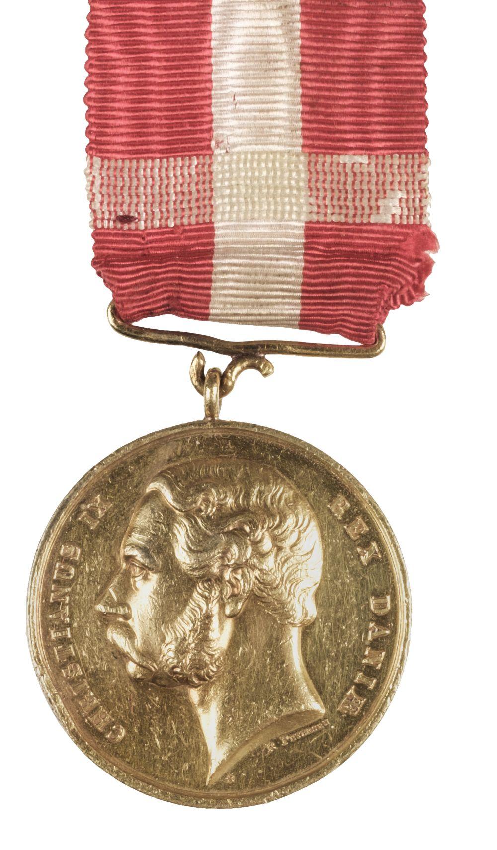 * Denmark. Christianus IX Gold Medal - J Blackburn