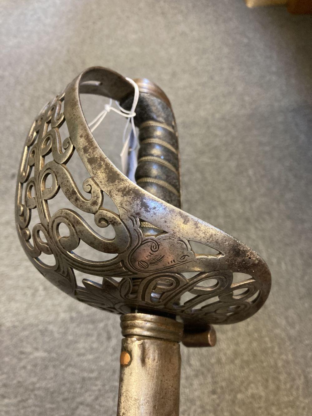 * Sword. Victorian Heavy Cavalry Officer's sword - Image 2 of 14