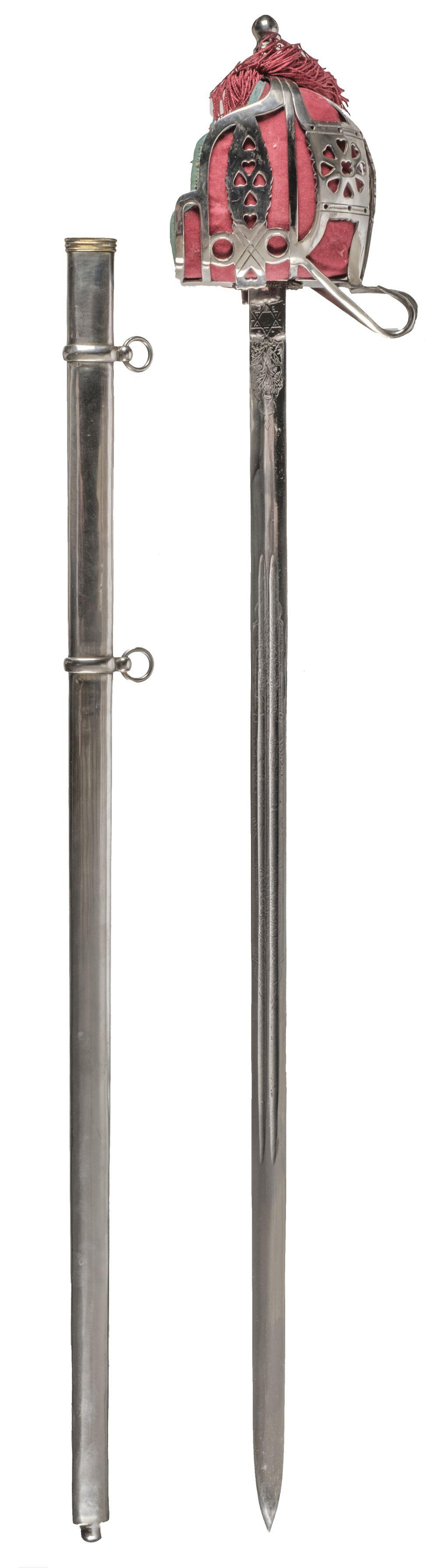 * Sword. Copy of a Scottish basket-hilt sword