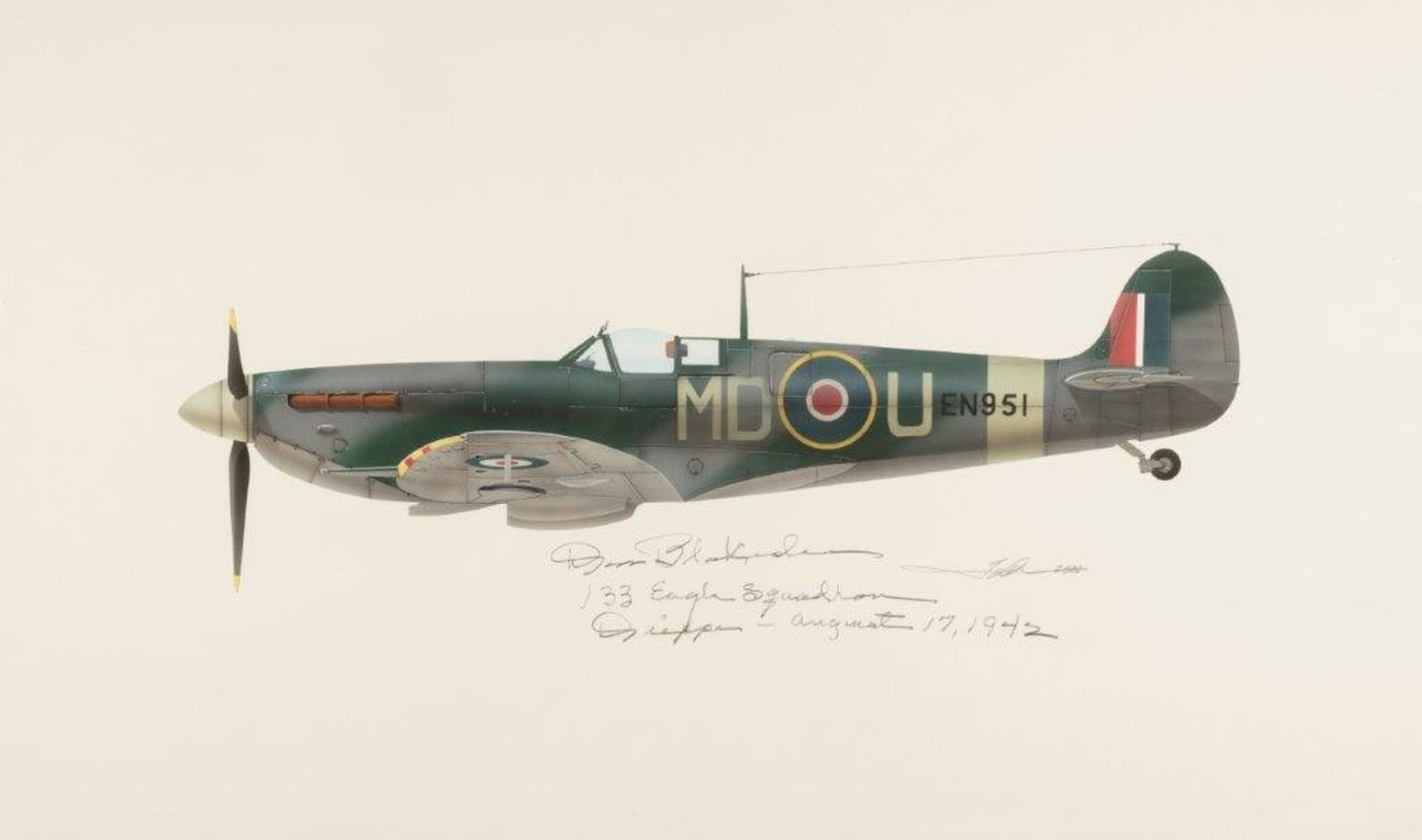 "* Valo (John C., circa 1963), Supermarine Spitfire Mk.Vb EN951 – 133 ""Eagle"" Squadron"