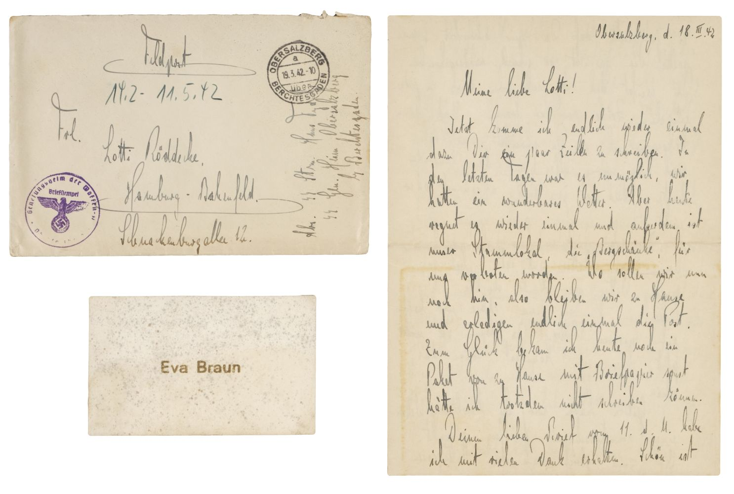 * Third Reigh. SS Guard's Letter - Dated 1942