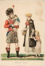 * Debucourt (Philibert-Louis, 1755-1832). Famille Ecossaise & Officiers Anglais et Ecossais
