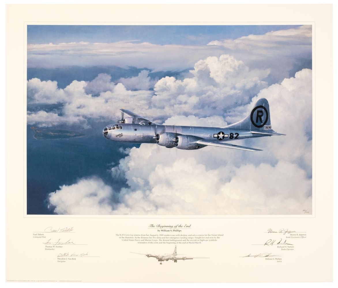 * Aviation Prints. The Beginning of the End, multi-signed prints and others