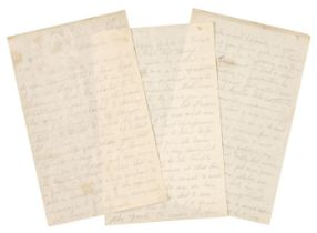 * WWI - Battle of the Somme. Autograph Letter Signed, 'John', Hut A5, Duke's Hill Con[valescent] Cam