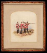 * Norie (Orlando, 1832-1901), Huntingdonshire Regiment watercolour, circa 1900