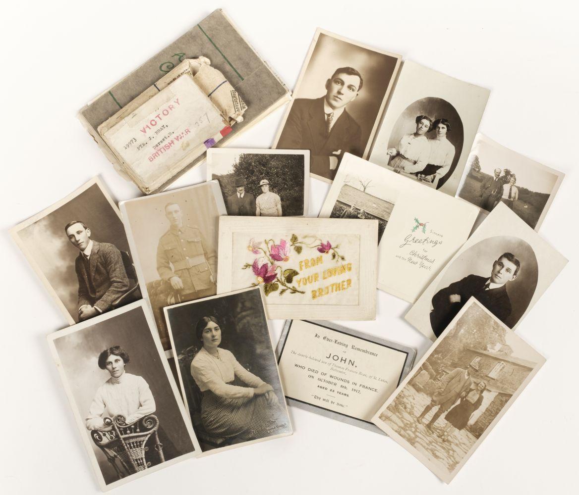 * Dorsetshire Regiment Medals & Memorial Plaque - Image 5 of 5