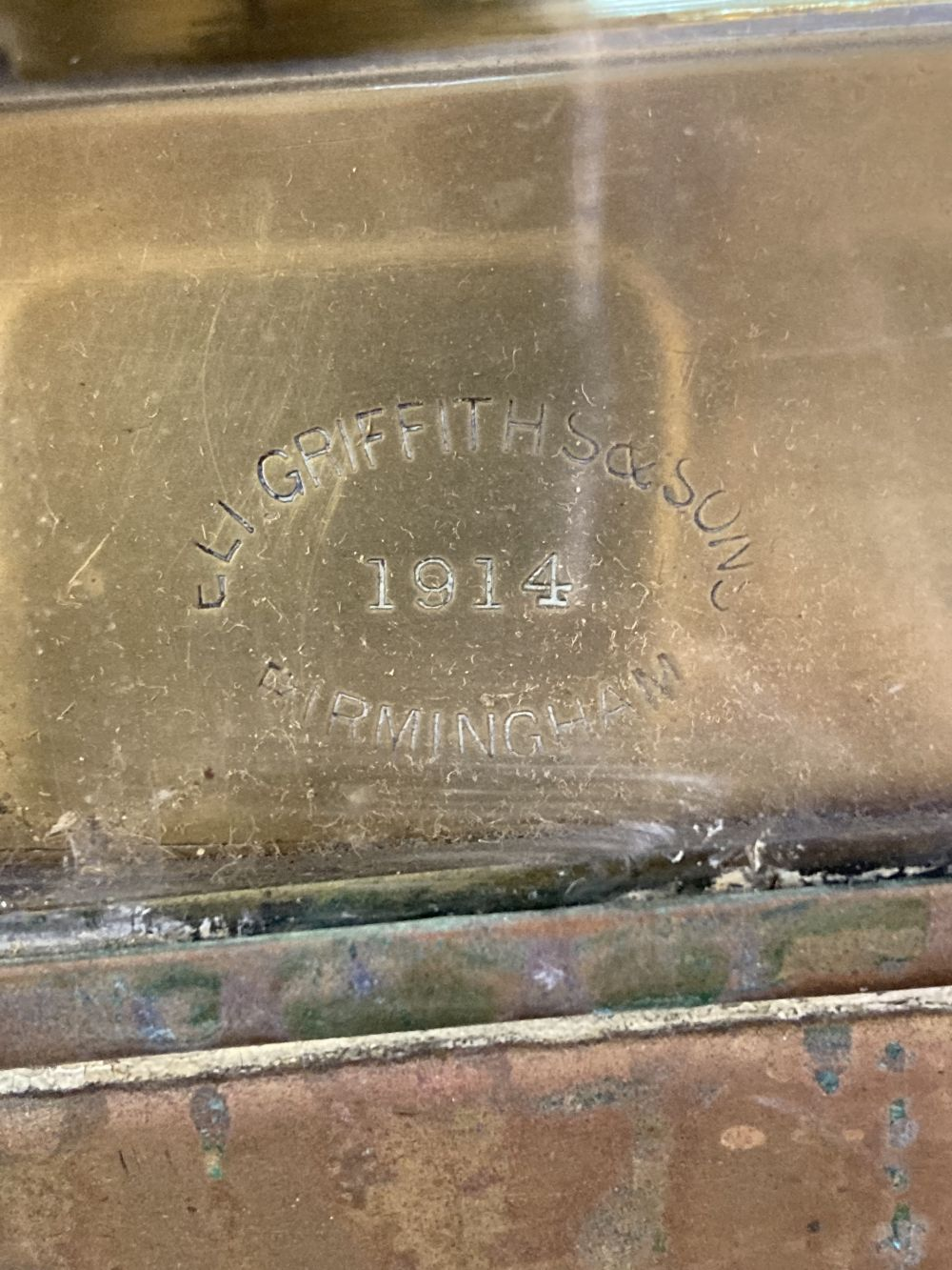 * WWI Brass Trench / Wardroom Lamp - Image 10 of 10