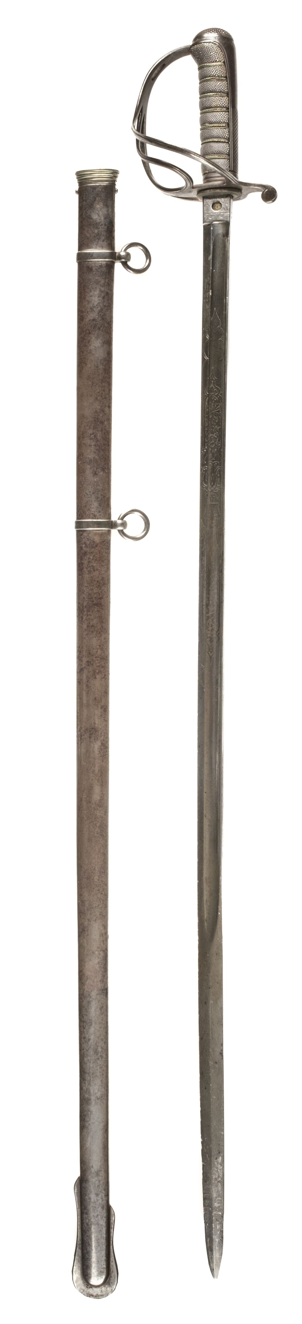 * Sword. Victorian officer's sword by Hawkes & Co