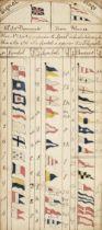 Naval Manuscript book, 1823 and later