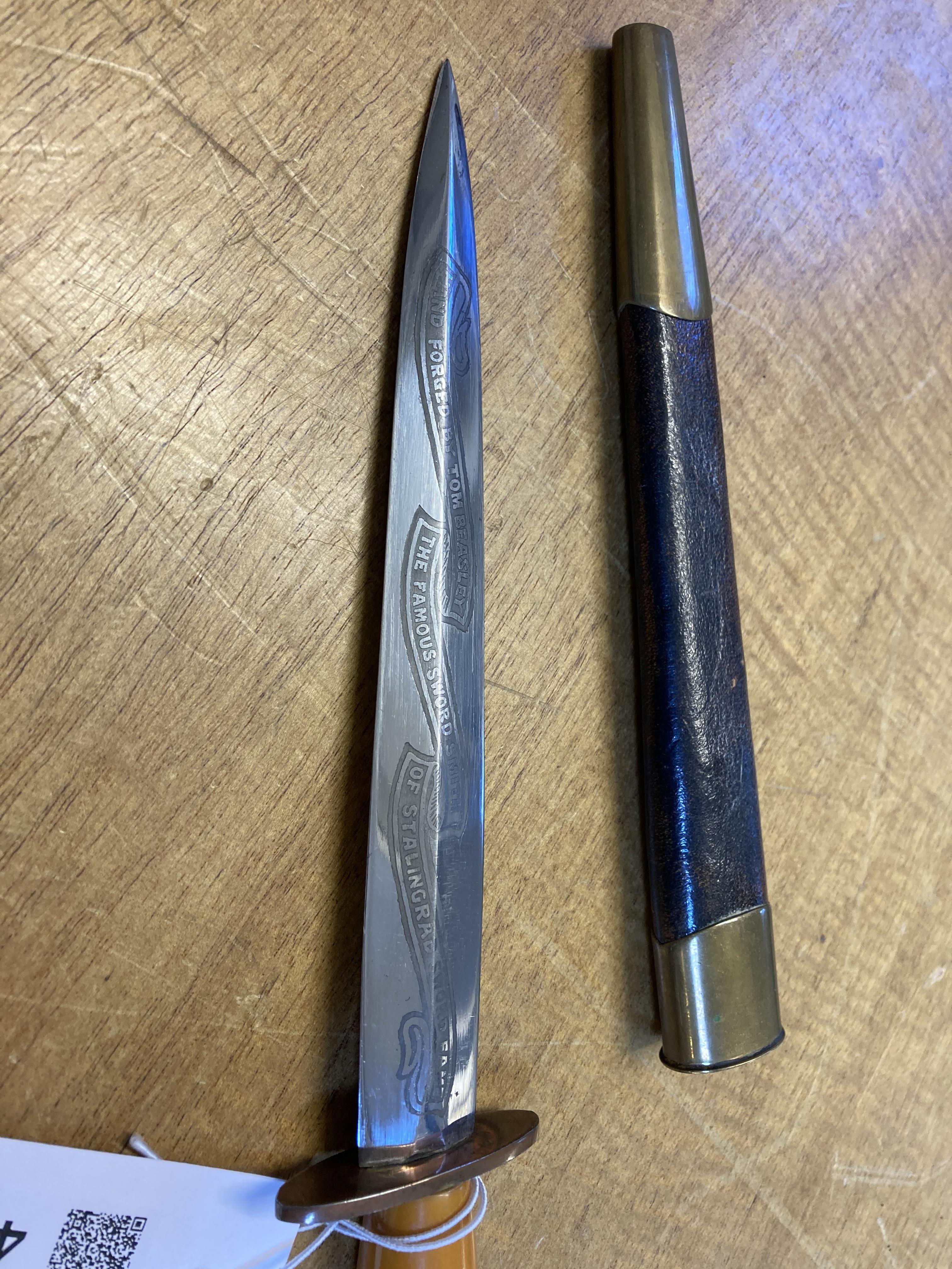 * Tom Beasley Commando Fighting knife - Image 2 of 5