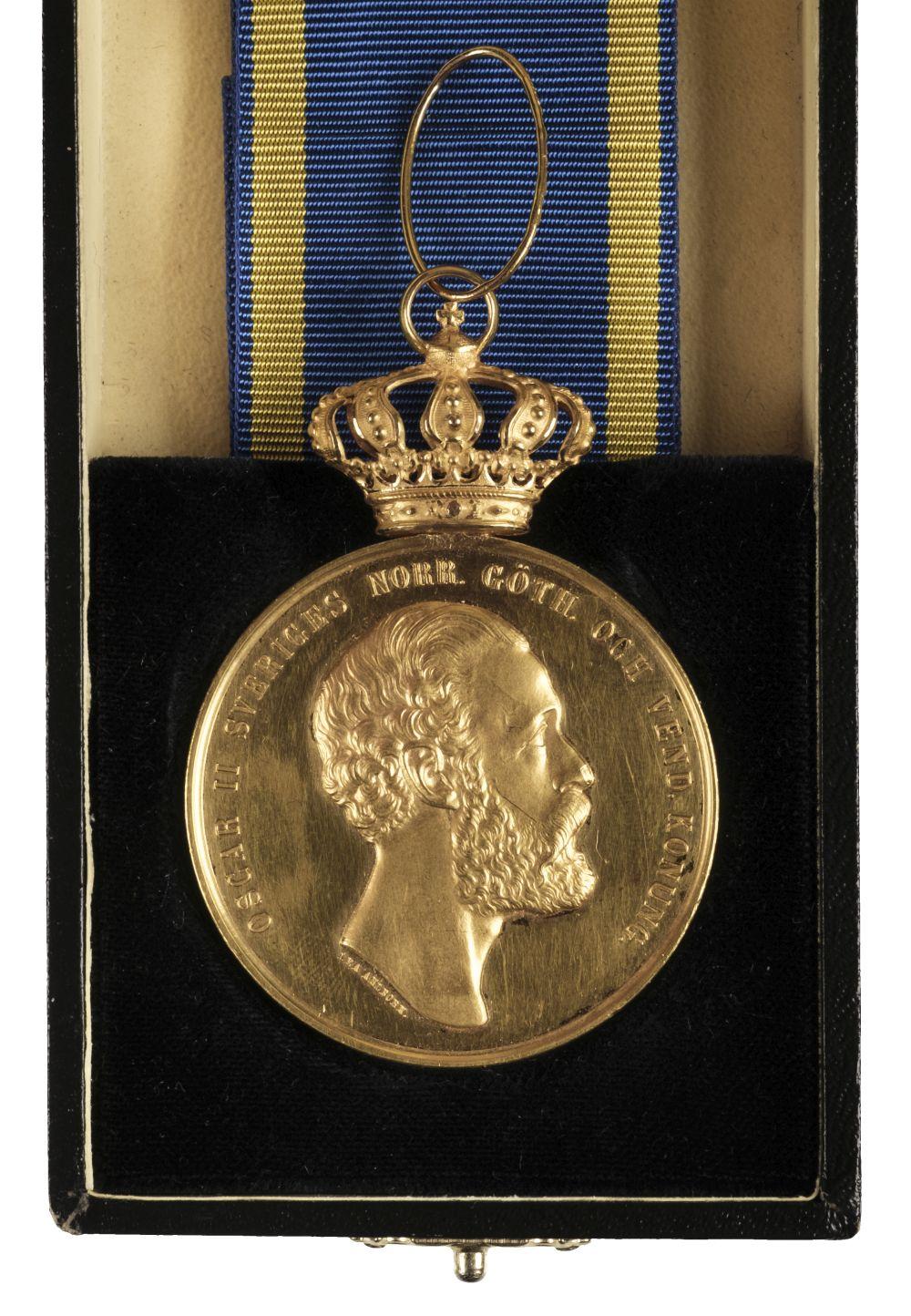 * Sweden. Oscar II Gold Medal