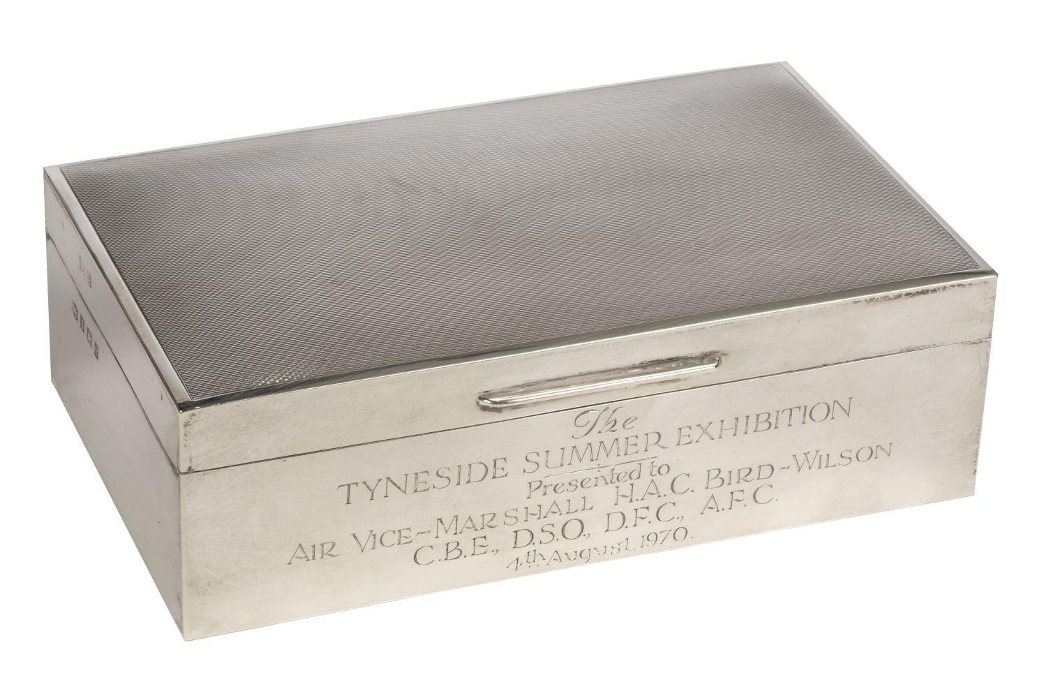 * Air Vice Marshal Harold Bird-Wilson. Presentation cigarette box