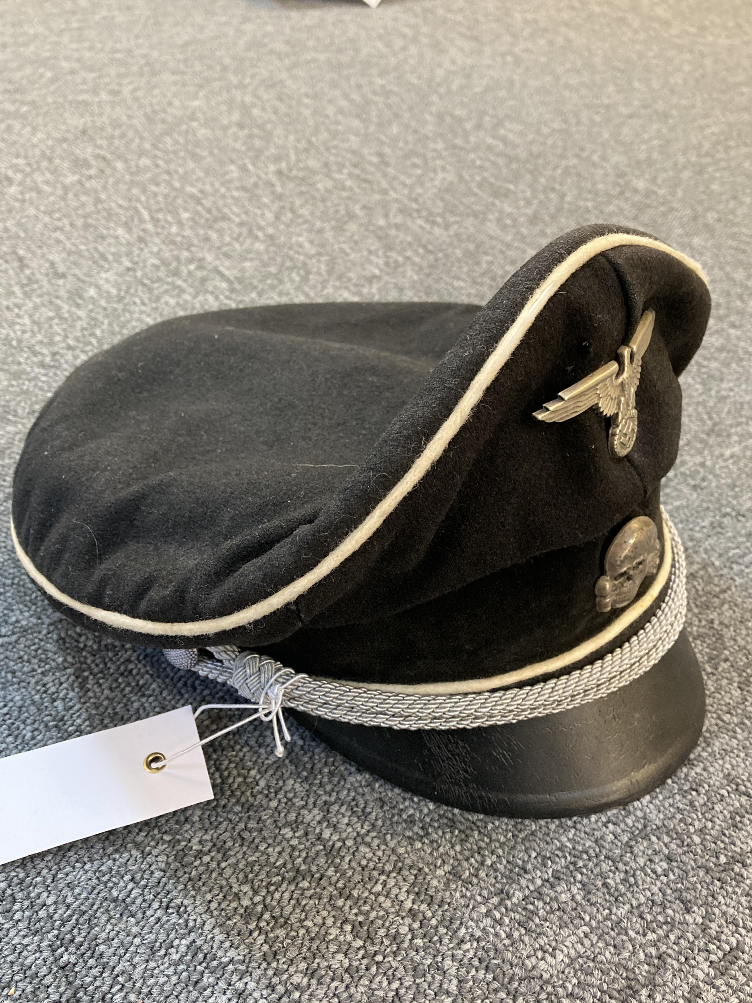 * Third Reich. WWII SS Officer's visor - Image 5 of 10