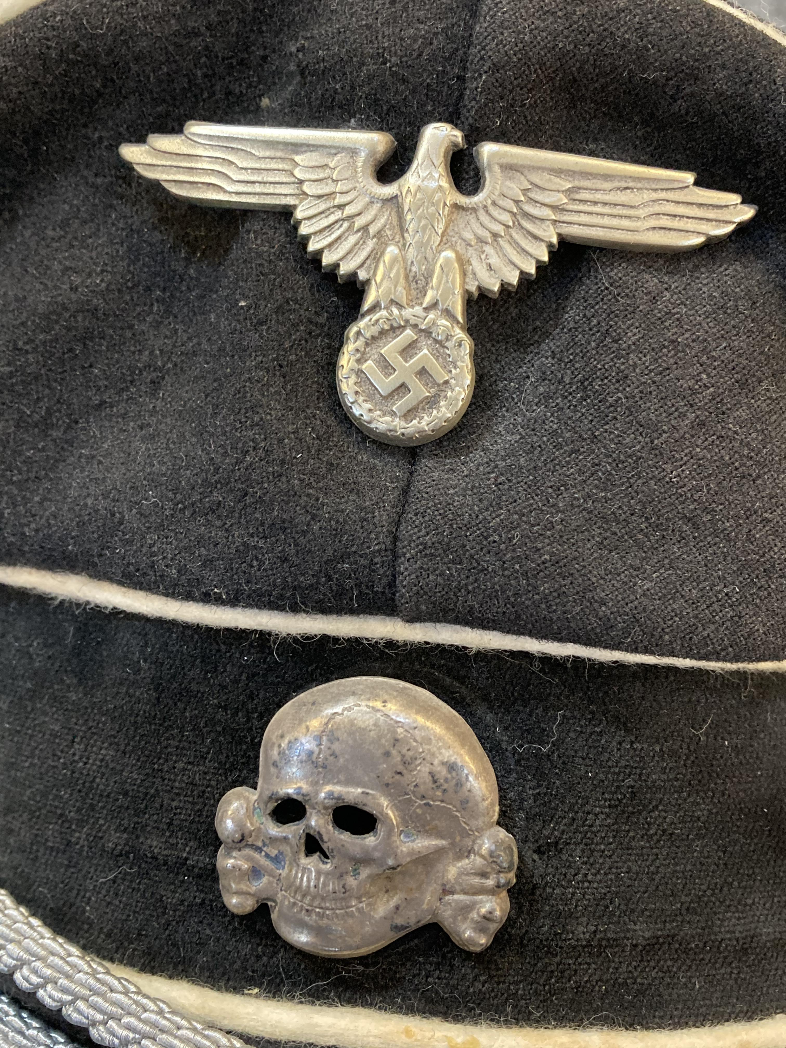 * Third Reich. WWII SS Officer's visor - Image 3 of 10