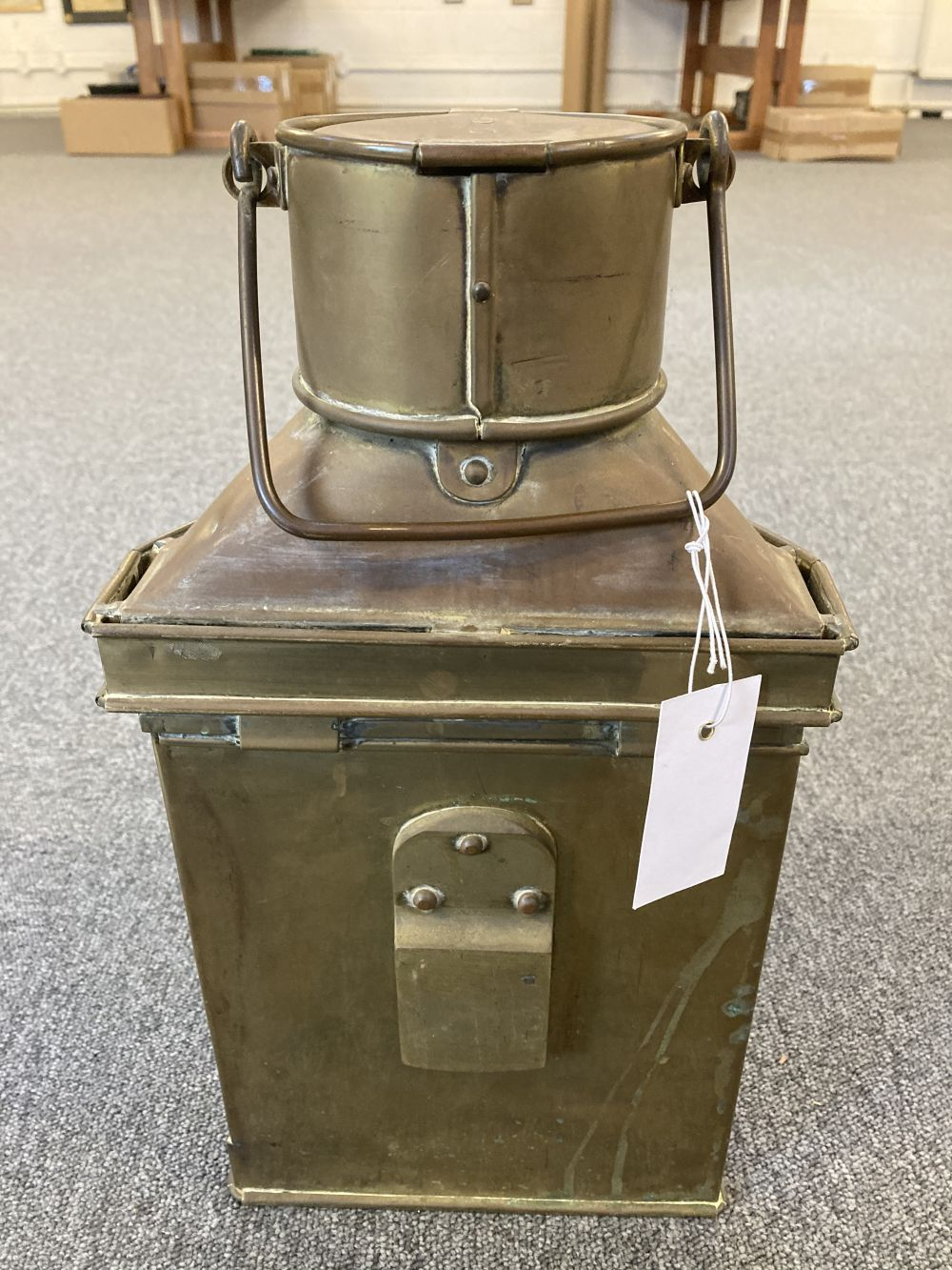 * WWI Brass Trench / Wardroom Lamp - Image 5 of 10