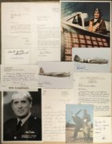* World War II. A selection of signed postcards