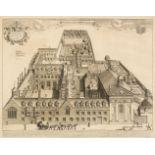 * Loggan (David). Collegium sive Aula Pembrochiana apud Cant. circa 1690