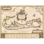 Bermuda. Blaeu (Willem), Mappa aestivarum insularum, alias Barmudas, circa 1640