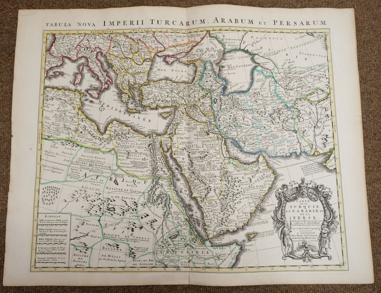 Holy Land. Ottens (R. & J.), Het Beloofde Landt Israels. Terra Sancta..., Amsterdam, circa 1765 - Image 4 of 10