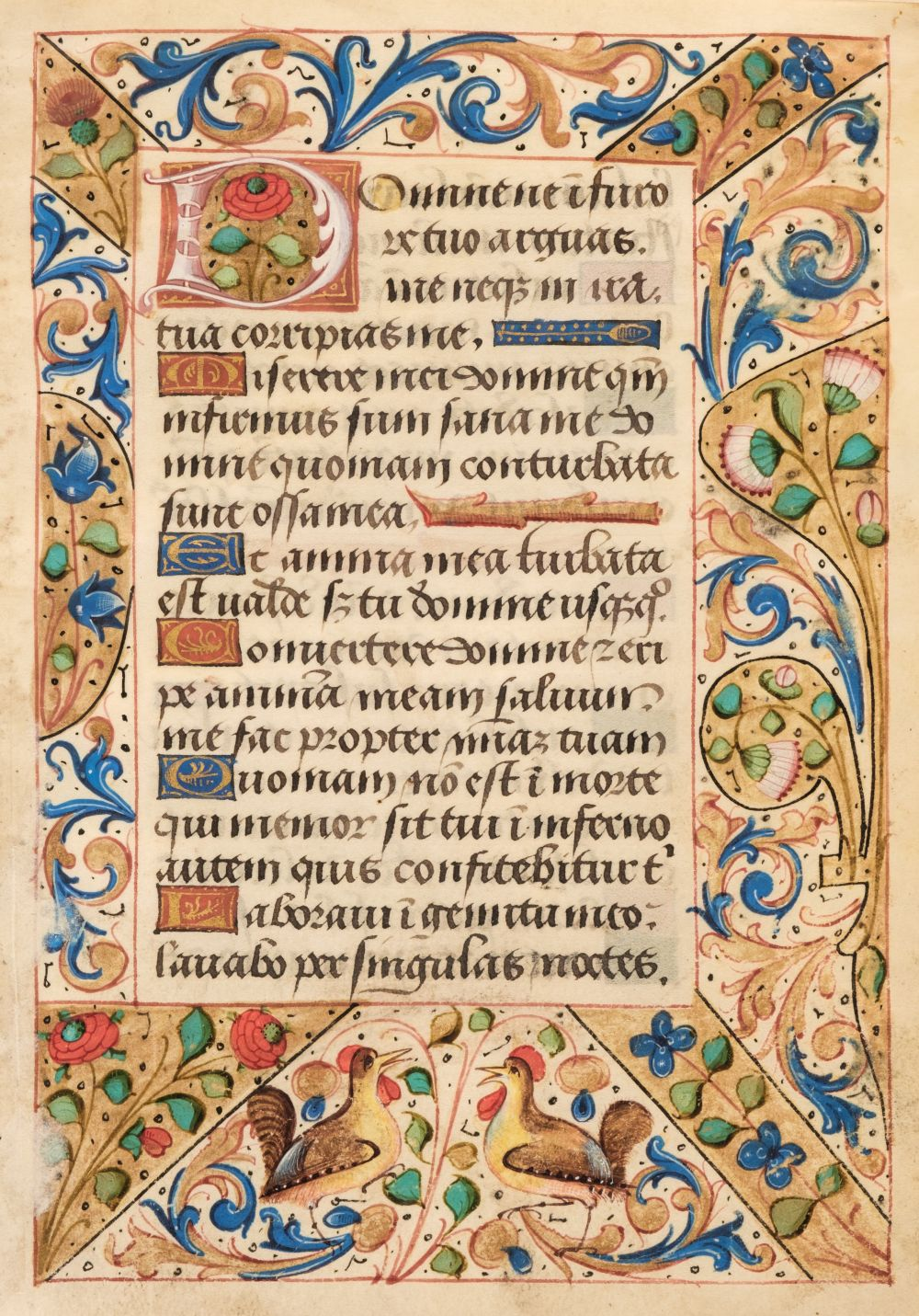 * Illuminated Leaf. Illuminated leaf from a Book of Hours, Northern France, circa 1500