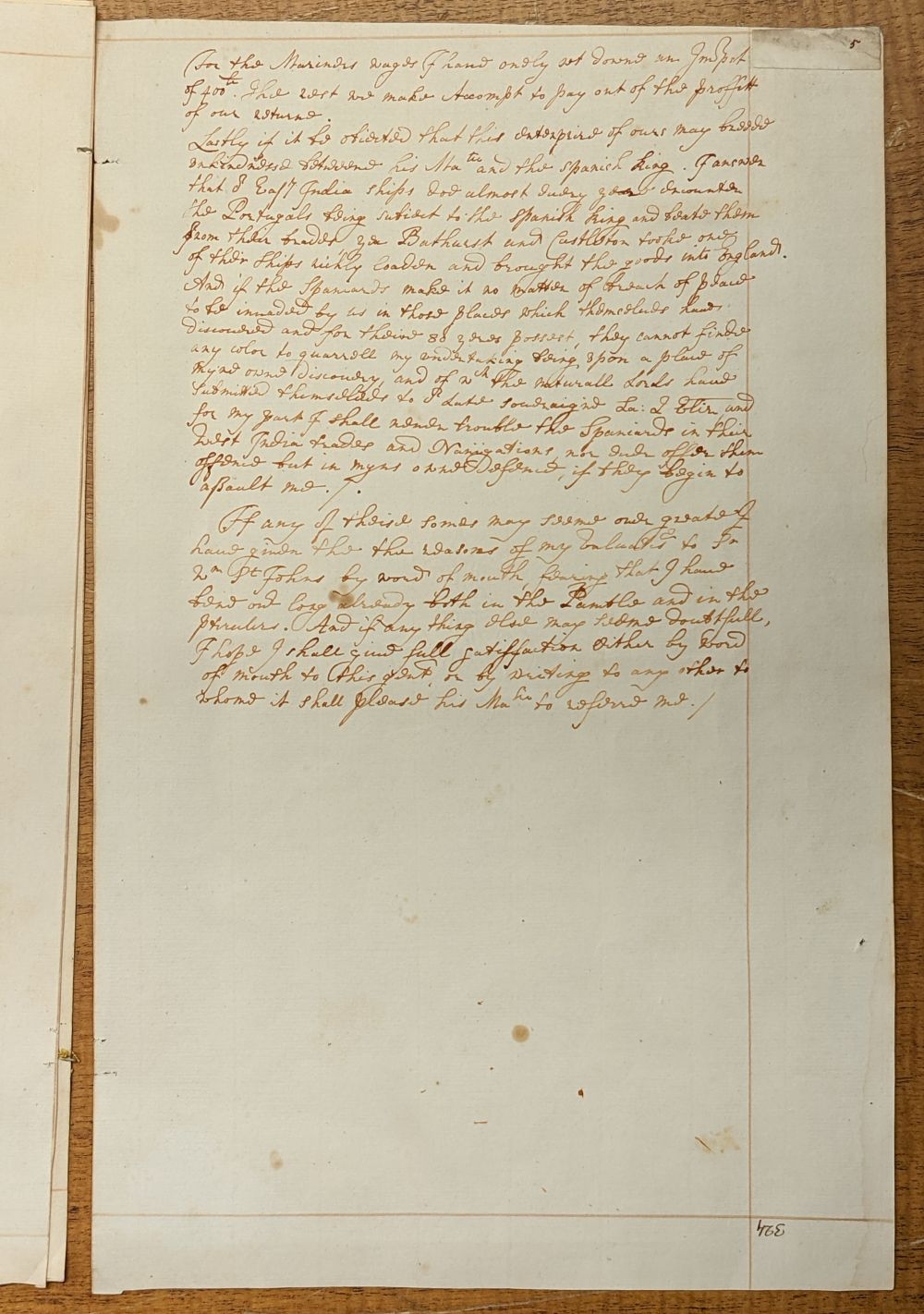* West Indies. Manuscript application for funds and assistance... , mid 18th century - Image 5 of 6