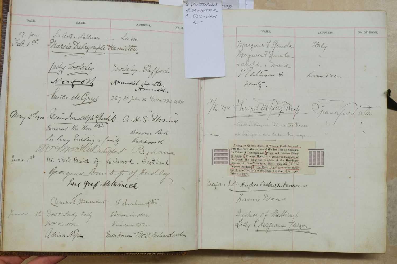 Visitors' Book. South Western Hotel, Southampton. A visitors' book, circa 1899-1912 - Image 5 of 16