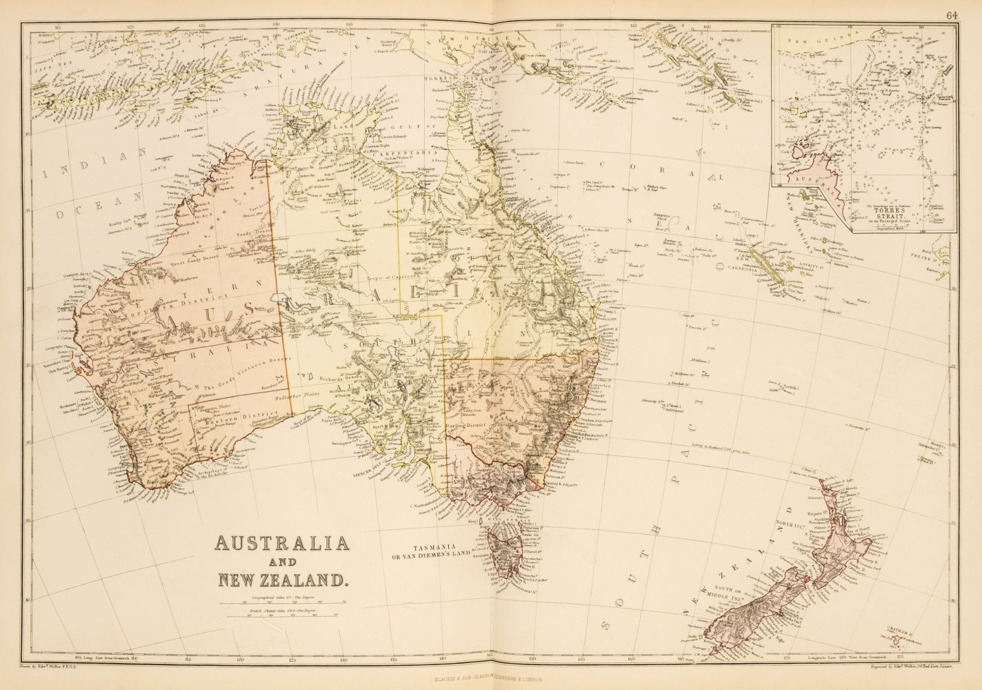 Blackie & Son (publishers). The Comprehensive Atlas & Geography of the World, 1882