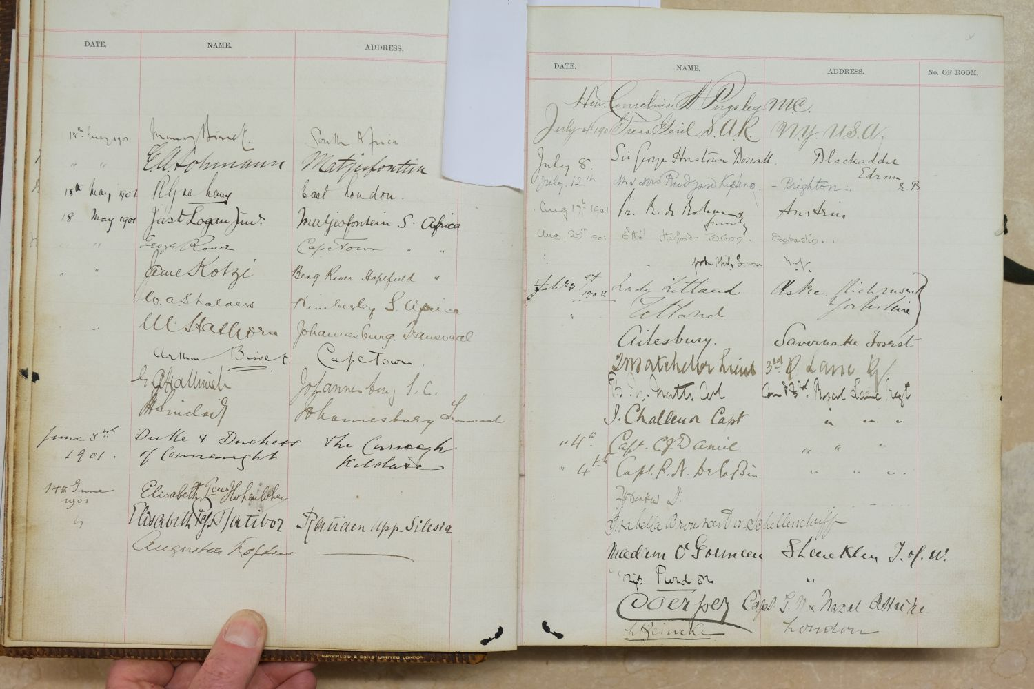 Visitors' Book. South Western Hotel, Southampton. A visitors' book, circa 1899-1912 - Image 8 of 16
