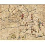 Cambridge, Bedford & Huntingdonshire. Drayton (Michael). Two allegorical maps, 1622