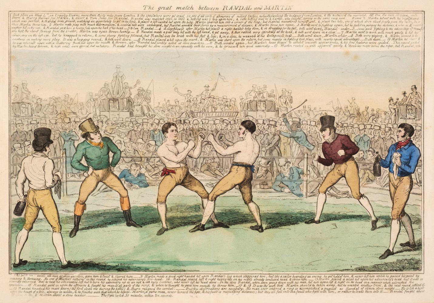 * Boxing. Cruikshank (Isaac R.), The Great Match between Randal and Martin, circa 1820