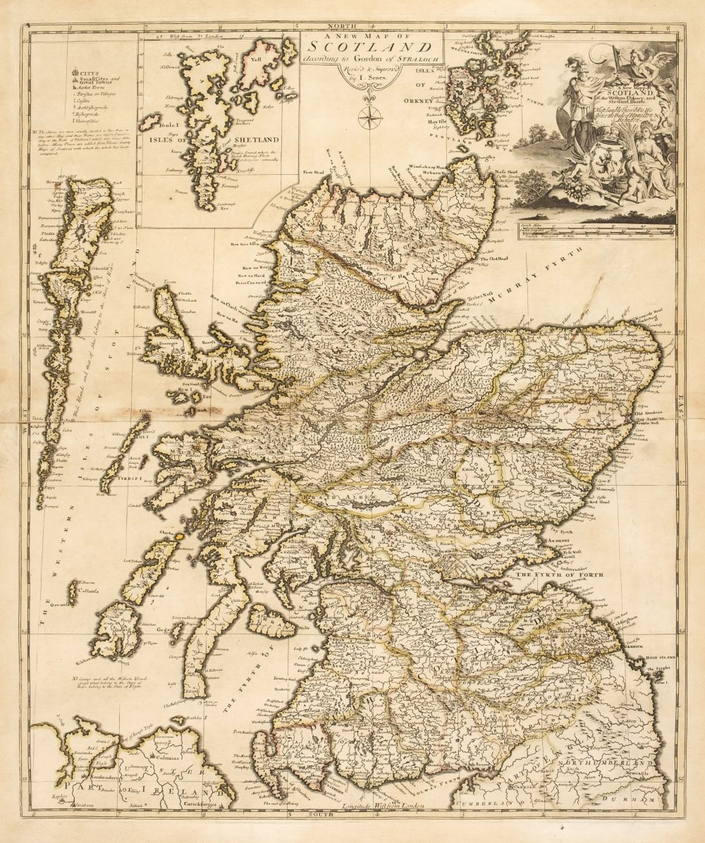 * Scotland. Senex (John), A New Map of Scotland according to Gordon of Straloch, 1721