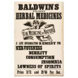 * Advertising Posters. Twenty medicinal advertising posters, circa 1900