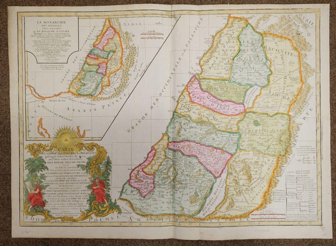 Holy Land. Ottens (R. & J.), Het Beloofde Landt Israels. Terra Sancta..., Amsterdam, circa 1765 - Image 2 of 10