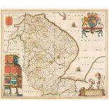 Lincolnshire. Blaeu (J.), Lincolnia Comitatus Anglis Lincoln-shire, Amsterdam, circa 1646