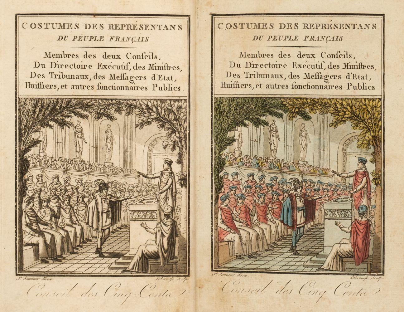 Grasset de Saint-Sauveur (Jacques). Costumes des représentans du peuple - Image 2 of 2