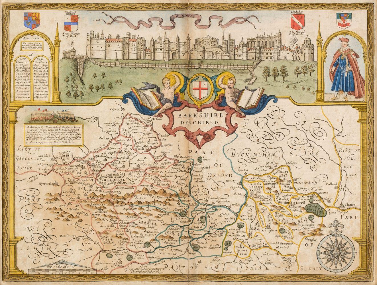 * Berkshire. Speed (John), Barkshire Described, Thomas Bassett & Richard Chiswell, 1676