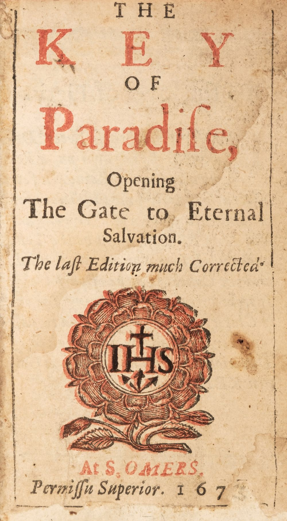 Wilson (John). The Key of Paradise, Opening the Gate to External Salvation..., 1675