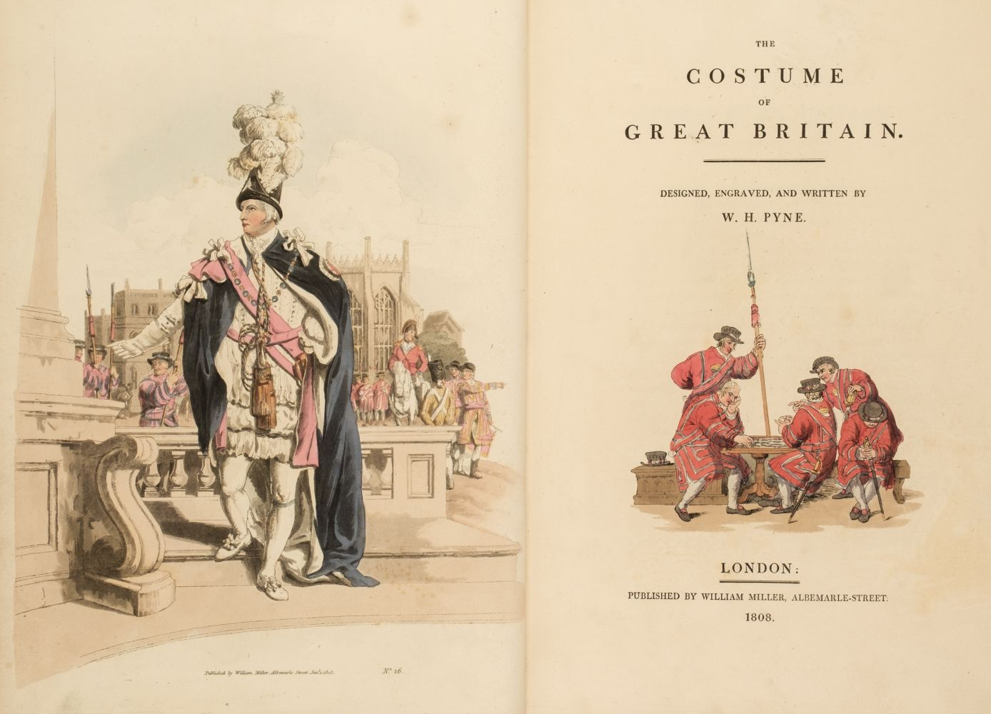 Pyne (William Henry). The Costume of Great Britain, William Miller, 1808 - Image 2 of 4