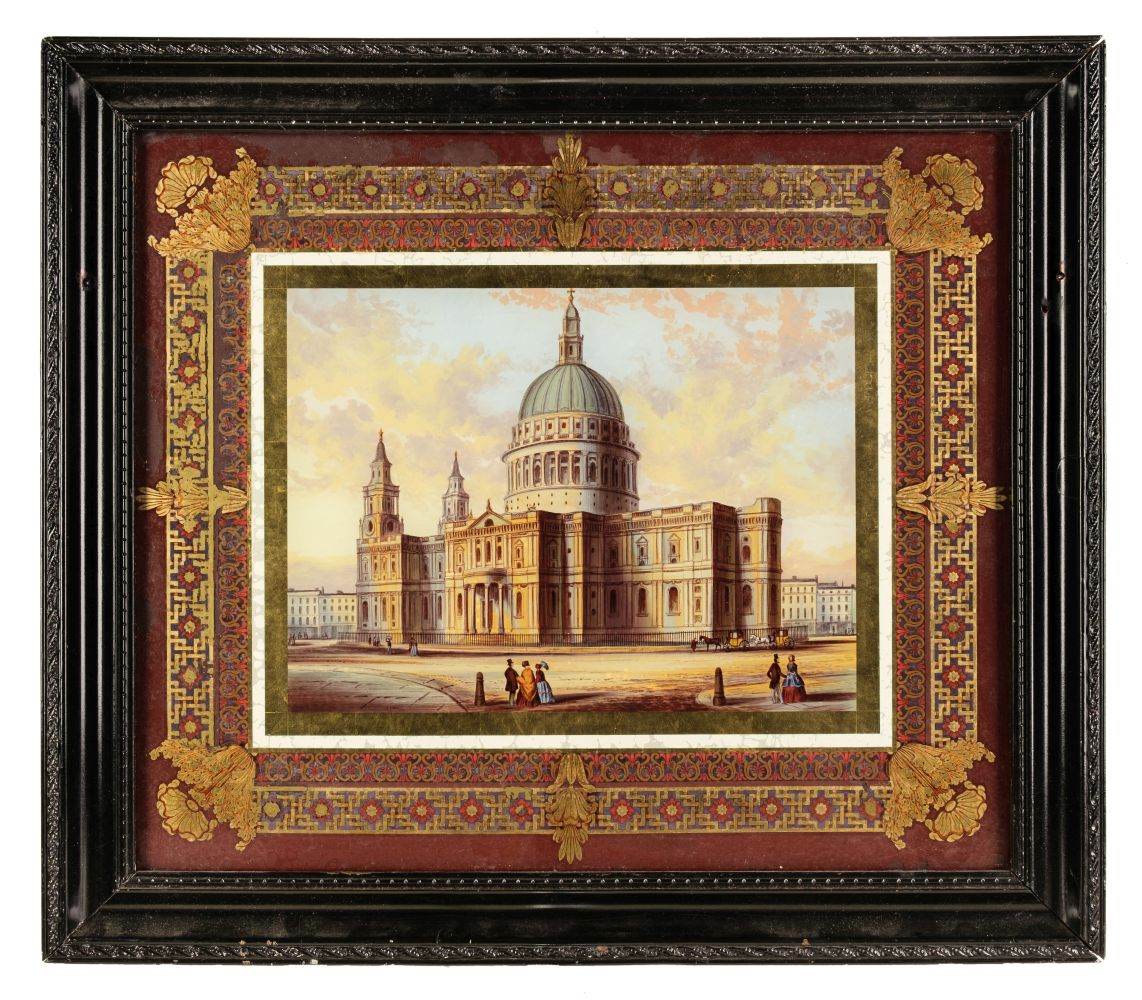 * Glass Painting. St Pauls Cathedral, circa 1850