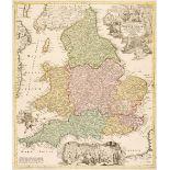 England & Wales. Homann (J. B.), Magnae Britanniae pars Meridionalis..., circa 1720